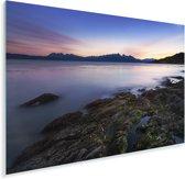 Fantastische zonsondergang bij het water van Nationaal park Tierra del Fuego Plexiglas 90x60 cm - Foto print op Glas (Plexiglas wanddecoratie)