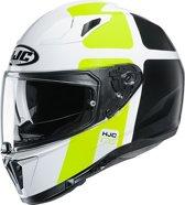 HJC I70 PRIKA Wit Integraalhelm - Motorhelm  - Maat XL