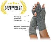 Artritis handschoenen Anti-Slip (S), artrose reuma compressie handschoen zonder toppen, ook voor tendinitis en carpaal tunnel syndroom, maat S (ook te verkrijgen in M/L/XL)