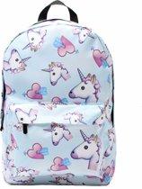 Emoji unicorn heart rugzak  - 42 cm hoog - Blauw
