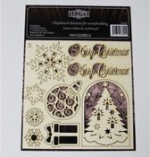 Filigranki Laser Snij Spaanplaat Kerst SET 9 stuks