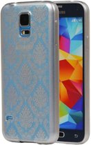 Samsung Galaxy S5 mini Hoesje TPU Paleis 3D Backcover Zilver