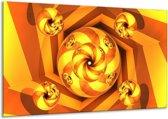 Canvas schilderij Abstract | Geel, Bruin | 120x70cm 1Luik