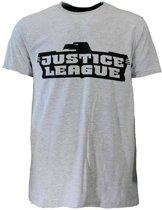 Justice League T-shirt Grijs/Zwart, Maat:  M