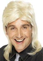 Blonde rockster pruik voor mannen met matje  - Verkleedpruik
