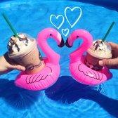 Opblaasbare Flamingo Bekerhouders (3st)