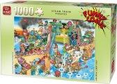 Funny Comic Puzzel 1000 Stukjes STEAM TRAIN PIRATES