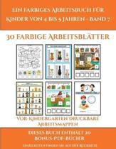 Vor-Kindergarten Druckbare Arbeitsmappen (Ein Farbiges Arbeitsbuch Fur Kinder Von 4 Bis 5 Jahren - Band 7)