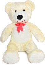 Grote teddebeer / knuffelbeer 110cm - Zachte pluche - Wit