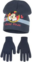 Kindermuts set|mickey mouse|blauw Mt 52