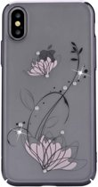 Devia - iPhone Xs Hoesje - Harde Back Case Lotus Zwart
