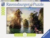 Ravensburger puzzel Three rocks in Cheow, Thailand - Legpuzzel - 1000 stukjes