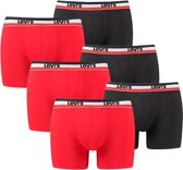Levi's 6-pack boxershorts 200SF red black-M