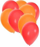 30x ballonnen rood en oranje