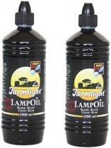 2x Lampenolie / fakkelolie -1 liter - met gratis aansteker