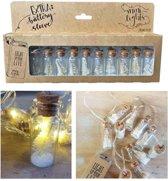 kerst lichtslinger met flesjes Mini-Lights   kerstboom wit