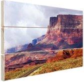 Woestijnlandschap Amerika Hout 120x80 cm - Foto print op Hout (Wanddecoratie)