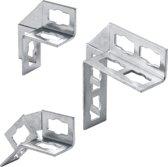 FIS hoekverbinder montagerail Samontec PUWS, staal, el verz, hoek 90\xb0