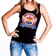 Zwart Holland drinking team tanktop / mouwloos shirt / tanktop / mouwloos shirt zwart dames - Koningsdag / supporters kleding L