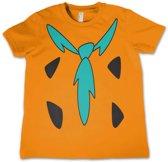 The Flintstones - Costume kinder T-shirt oranje - Merchandise televisie animatie - 12 jaar - Hybris
