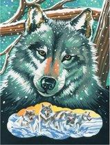 Schilderen Op Nummer Wolf
