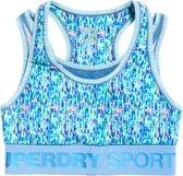 Superdry Sportbeha - Maat L - Vrouwen - blauw/groen/geel