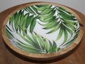 Schaal met palmblad
