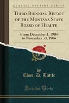 Omslag van 'Third Biennial Report of the Montana State Board of Health'