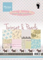 Marianne Design Pretty papers blocs » Cards en Colours » Pk9110 Twinsets & Pearls.