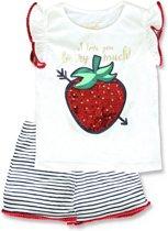Lemon Beret t-shirt en short meisjes - wit - 141434 - maat 128