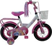 Disney Princess - Kinderfiets - 12 Inch - Meisjes - Wit/Roze