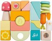 Sevi Houten Stapel- En Bouwblokken Pastel 25-delig