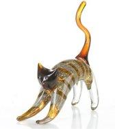 Glassculptuur kat