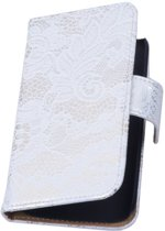 Lace Bookstyle Hoes voor Sony Xperia E3 D2203 Wit