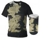 Merchandising GAME OF THRONES - T-Shirt - Westeros Map - DELUXE EDITION (M)