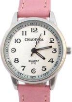 Horloge- Roze- GRATIS batterij- 32 mm