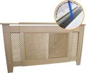 Radiatorombouw op maat - Radiatoromkasting - MDF - Onbewerkt - Verstelbaar 1400 tot 1920mm - Radiatorbekleding - Kant en klaar - Op maat