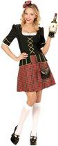 Landen Thema Kostuum   Tartan Lady Schotse   Vrouw   Large   Carnaval kostuum   Verkleedkleding