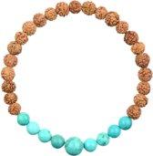 Regulus Turquoise Mala Armband XXL | 22 cm