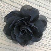 Leuke bloem (roos) op Clip - Zwart