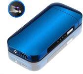 Elektrische Aansteker | Blauwe Vlamloze Aansteker | Windbestendig (incl. USB-kabel)