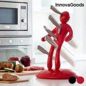 InnovaGoods Voodoo Messenset met Messenhouder (6 Stuks) Rood