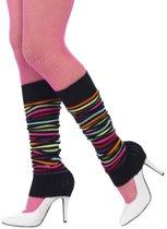 Gestreepte veelkleurige beenwarmers voor vrouwen - Verkleedattribuut