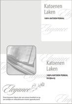 Laken Katoen Perkal - licht grijs 240x275