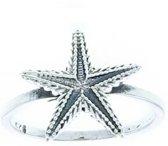 Starfish ring - 925 zilver - maat 20.00 mm - maat 20.00 mm