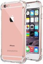 iPhone 6 Transparant TPU Silicone Case Met Verstevigde Randen met Inclusief of 2 Glass Screenprotector gratis