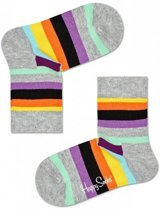 Happy Socks Kids Stripe sokken Grijs, 0-12 mnd = Maat 15-18