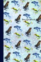 Frog: 6x9 Lined Journal, Notebook To Record Your Thoughts, Blank Lined Diary, 120 pages Soft Cover