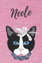 Neele Katzen-Malbuch / Notizbuch / Tagebuch: Individuelles personalisiertes blanko M�dchen & Frauen Namen Notizbuch, blanko DIN A5 Seiten. Ideal als U