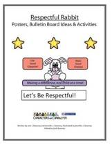 Respectful Rabbit Posters and Bulletin Board Ideas and Activities